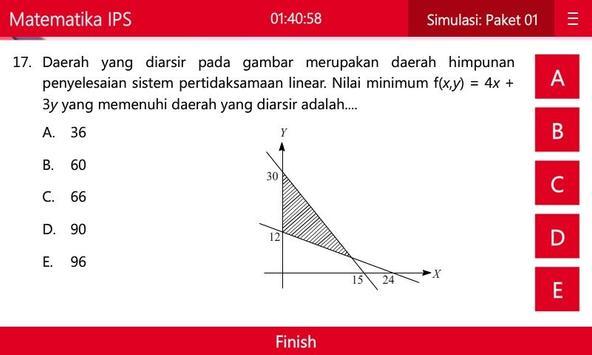 UNBK Matematika IPS SMA/MA apk screenshot
