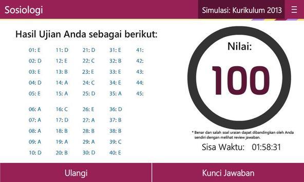 UN & USBN Sosiologi SMA/MA apk screenshot