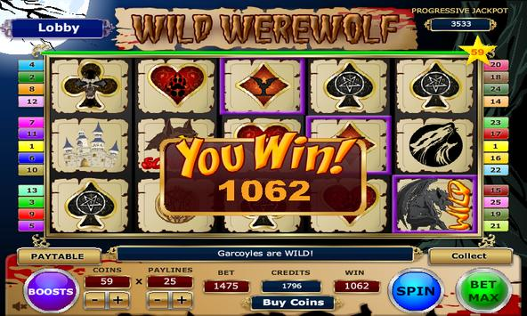 Wild Werewolf Slots screenshot 4