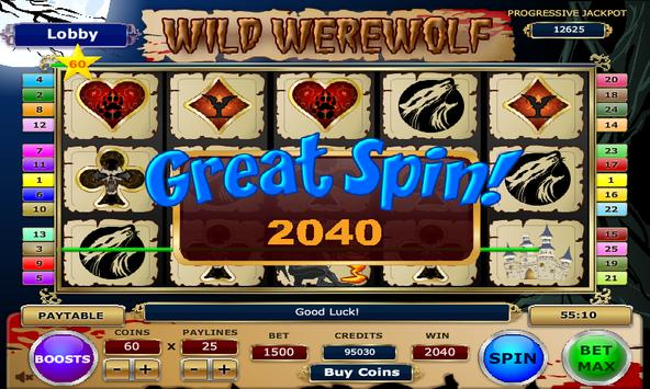 Wild Werewolf Slots screenshot 1