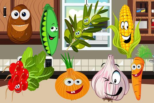 Vegetables Puzzle Game poster
