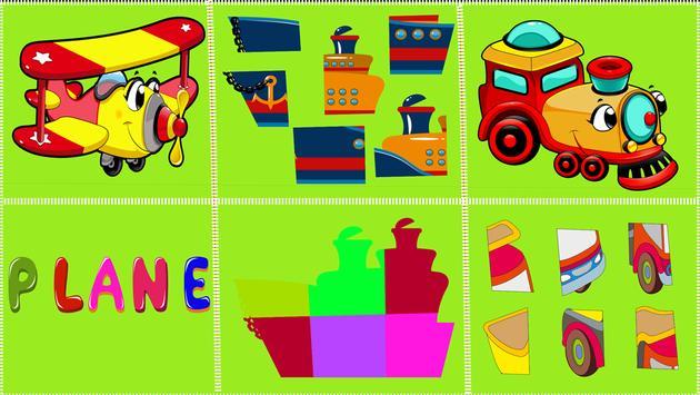 Vehicles Puzzle Game apk screenshot