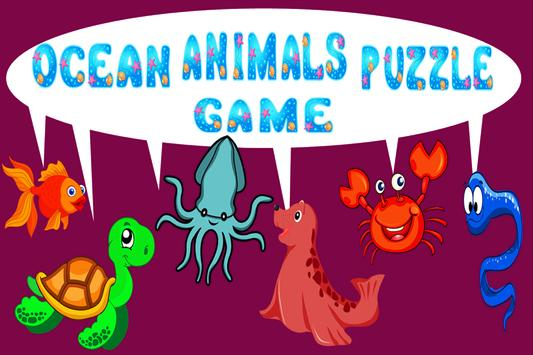 Ocean Animals Puzzle Game poster