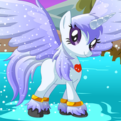 Pony Across River,Pony physics game icon