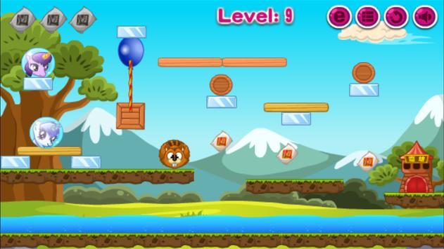 Pony Across River,Pony physics game screenshot 1