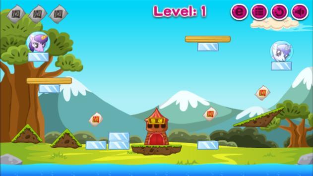 Pony Across River,Pony physics game screenshot 3