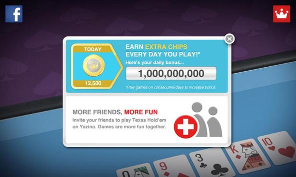 Texas Hold'em Poker by Yazino apk screenshot