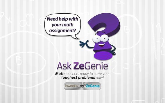 Ask ZeGenie poster