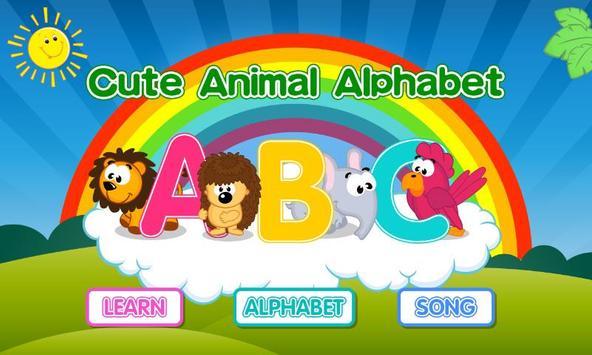 Cute Animal Alphabet poster