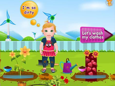 Baby Juliet Washing Clothes apk screenshot