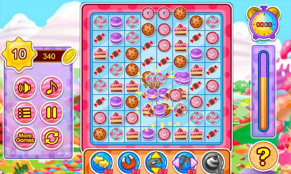 Cake and candy match game screenshot 2