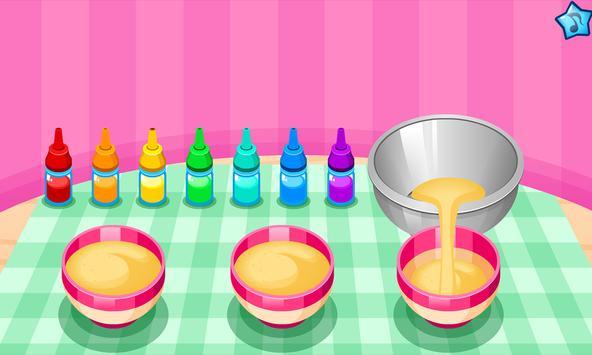Cooking colorful cupcakes screenshot 1