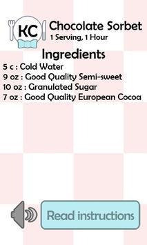 KC Chocolate Sorbet screenshot 1
