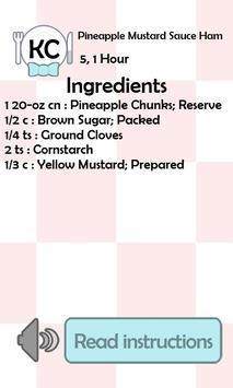 KC Pineapple Mustard Sauce Ham screenshot 1