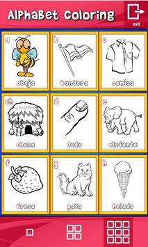 Spanish Alphabet Coloring apk screenshot