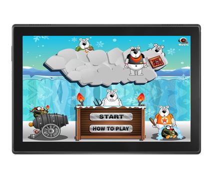 Angry Penguins Adventure - War attack games poster