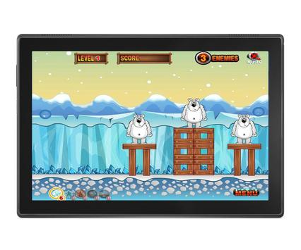 Angry Penguins Adventure - War attack games screenshot 2