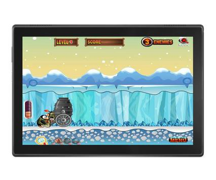 Angry Penguins Adventure - War attack games screenshot 3