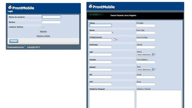 ProntMobile ProntuárioTablet screenshot 1