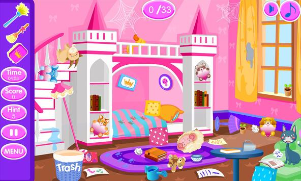 Princess room cleanup poster