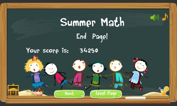 Summer Math for Kids apk screenshot