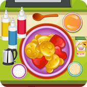 Sweet gummy candy icon