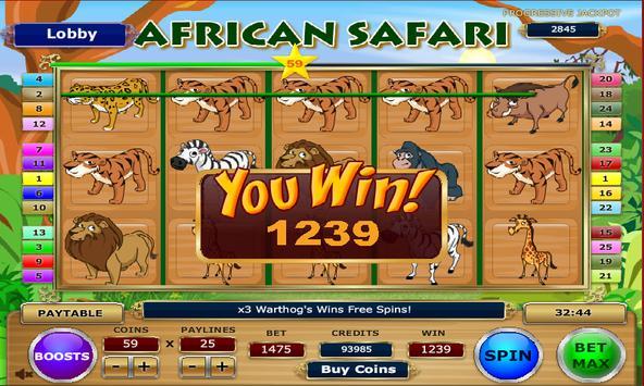 African Safari Slots poster
