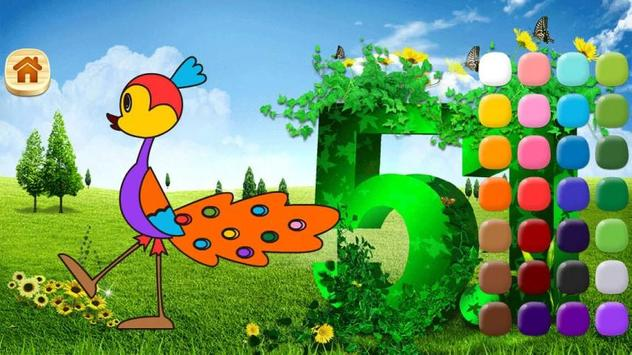 LittleTiger learning Colouring apk screenshot