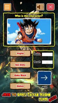 Jiren Vs Goku Saiyan God Dragon Super Quiz screenshot 2