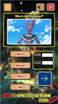 Jiren Vs Goku Saiyan God Dragon Super Quiz screenshot 3