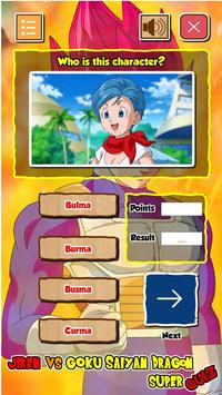 Jiren Vs Goku Saiyan God Dragon Super Quiz screenshot 4