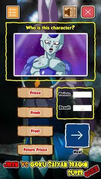 Jiren Vs Goku Saiyan God Dragon Super Quiz screenshot 5