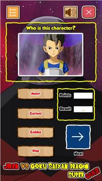 Jiren Vs Goku Saiyan God Dragon Super Quiz screenshot 6