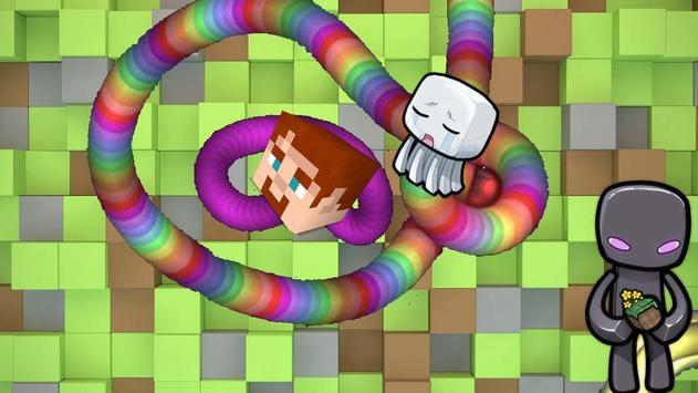 Snake Slither Minecraft Skin poster