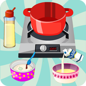 games cooking donuts icon