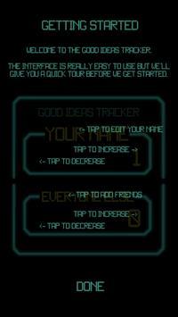 Good Ideas Tracker apk screenshot