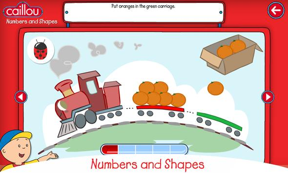 Caillou learning for kids apk screenshot