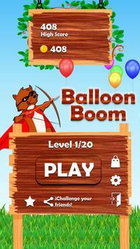 Balloon Boom Game poster