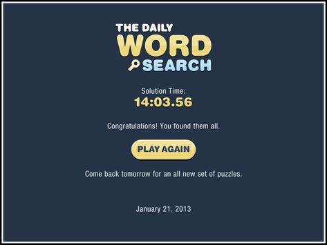 Daily Word Search apk screenshot