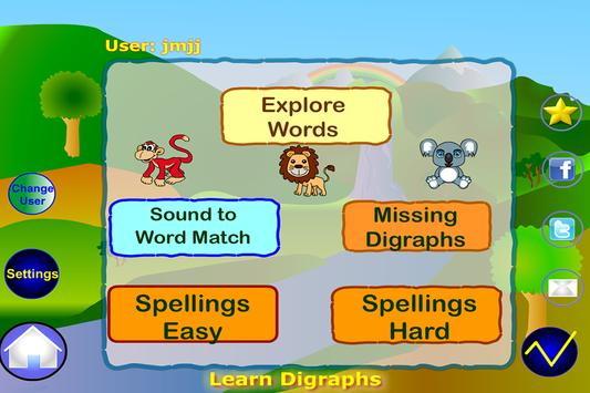 Learn Digraphs Preschool Free apk screenshot