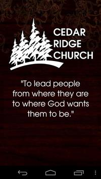 Cedar Ridge Church poster