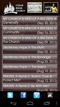 Cedar Ridge Church apk screenshot