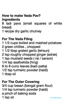 Vada Pav Recipe screenshot 1