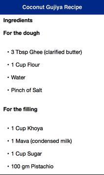 Coconut Gujiya Holi Recipe apk screenshot