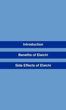 Benefits of Elaichi (Cardamom) poster