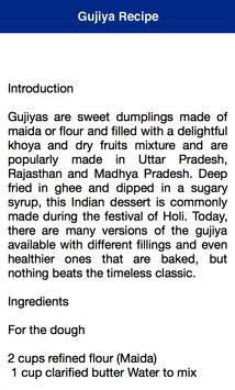Gujiya Holi Recipe apk screenshot