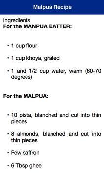 Malpua Holi Recipe apk screenshot