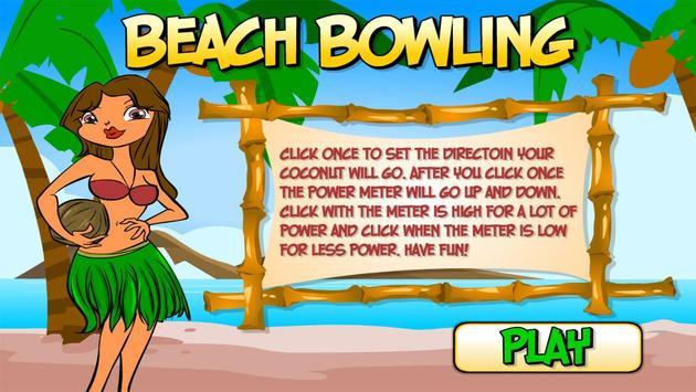 Beach Bowling poster