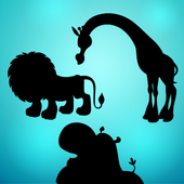 Animal shapes puzzles icon