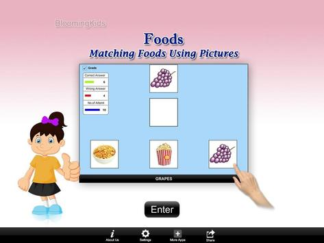 Matching Foods Using Pictures Lite Version poster